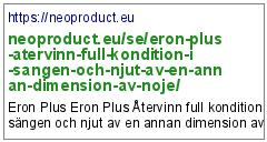 https://neoproduct.eu/se/eron-plus-atervinn-full-kondition-i-sangen-och-njut-av-en-annan-dimension-av-noje/